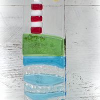 Lighthouse - Fused Glass Light Catcher