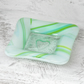 Fused Glass - Pretty Soft Green Trinket Dish or Tea light holder
