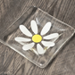 Fused Glass - Pretty Daisy Trinket Dish or Tea Light Holder