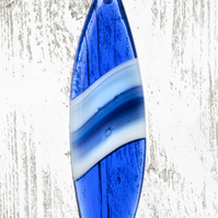 Fused Glass Surfboard - Blue