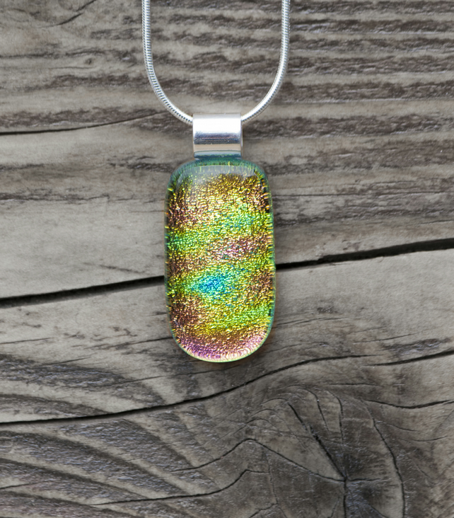 Fused Glass Necklace - Mixed Colours