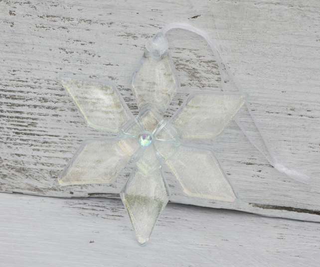 Glass Snowflake Christmas Decoration