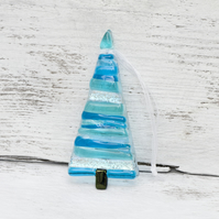 Fused Glass Christmas Tree - Turquoise