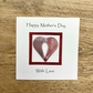Mother's Day Card with Detachable Fused Glass Heart