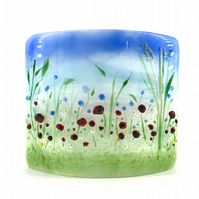 Glass Wild Flower Meadow Panel