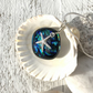Silver & Dichroic Glass Necklace with Starfish Charm