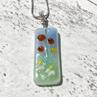 Sterling Silver & Glass Meadow Necklace