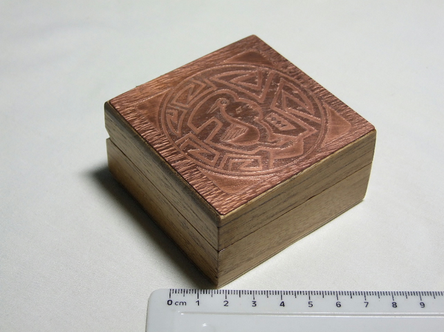 Etched Jewellery Box with Indian Design