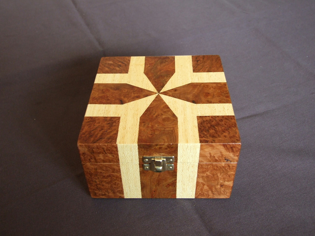 Gift Wrapped Marquetry Box