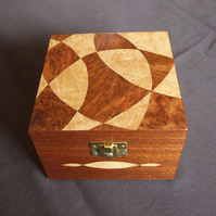 Marquetry Box with Curves Design