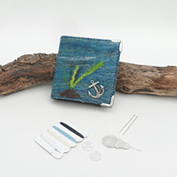"Felt Needle Case, Sewing Kit (accessories included), ""under the sea"""