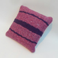 Felted woven cushion in pink and purple shades (includes cushion pad)
