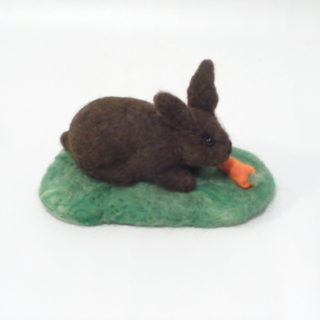 Needle Felted Bunny Rabbit Collectable Ornament