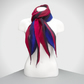 Cobweb felt scarf, gift boxed, merino wool in reds and blues with shaped ends