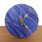 Nuno felted desktop clock, 12.5cm in blue shades