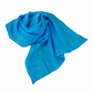 Blue nuno felted scarf, gift boxed