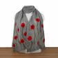 Grey poppy scarf, nuno felted merino wool on silk, gift boxed