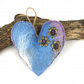 Felt hanging padded heart in lilac, blue and grey merino wool (3)