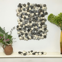 Felted pebble wall hanging (60cm x 70cm approx) - SALE ITEM