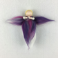 Merino wool fairy or angel in purple shades