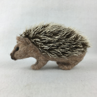 Needle felted hedgehog, collectable animal sculpture, ornament or decoration