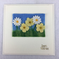 Buttercups and daisies felted ACEO picture card, best wishes, removable ACEO