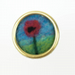 Poppy lapel pin, brooch or badge, needle felted