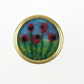 Needle felted poppies lapel pin, brooch or badge