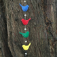 Bright multicoloured felt bird garland (4 birds)