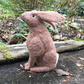 Needle felted moon gazing brown hare