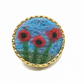 Brooch, badge or lapel pin, needle felted poppies (3 poppies)