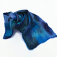 Merino wool felted scarf in blues