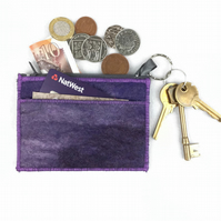 Purple felted coin purse