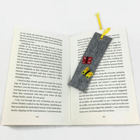 Felted bookmark with butterfly design