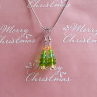 Christmas Tree with Star Topiary Earrings