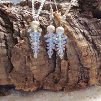 Swarovski crystal winter Icicles Earring & Pendant Set