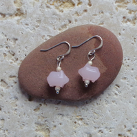 "Pink Jade earrings ""Little piggies"""