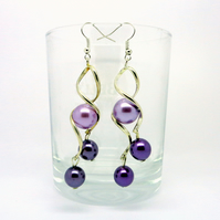 Lilac & Purple Drop Earrings