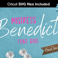 SVG Fonts - bundle Brush Font pair script fonts handlettered Cricut fonts