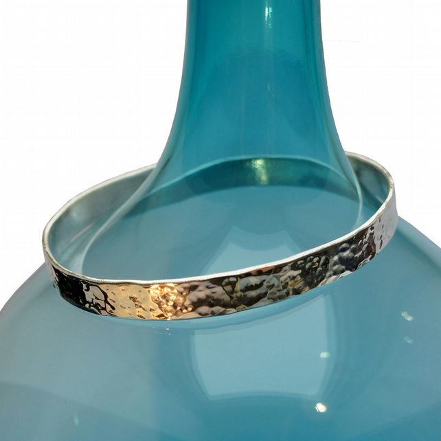 Heavy Hammered Bangle