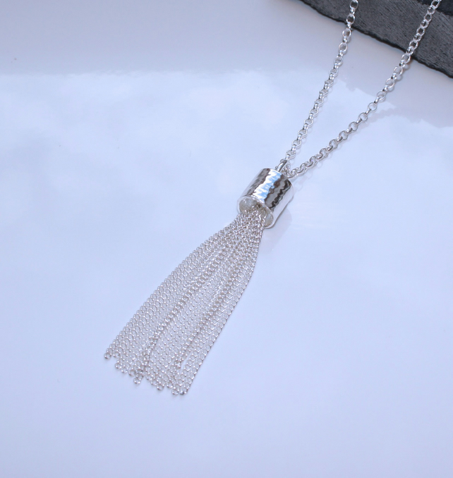Sterling Silver Tassel Necklace