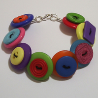 SALE: Multicoloured button bracelet FREE UK SHIPPING