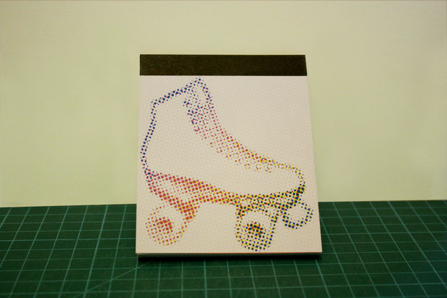 Cool Roller boot notepad