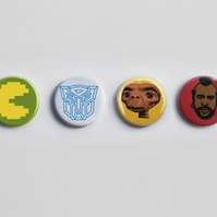 1980's Icons pin badge set