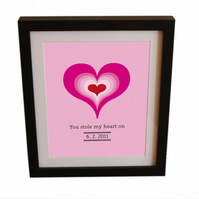 'You Stole My Heart On...' personalised print