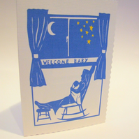 Paper Cut Design New Baby Card