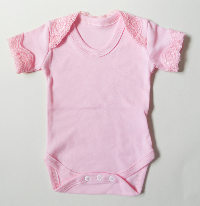 Pink Lace Baby Girl Bodysuit Folksy