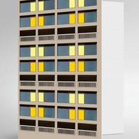 Park Hill Flats Sheffield Greeting Card (Yellow)