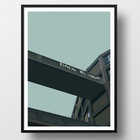 Brutalist Love Sheffield Park Hill A3 Illustration