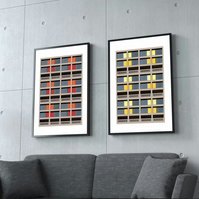 Park Hill Flats Sheffield Brutalist Architecture Prints - A3